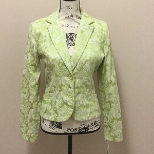 DKNY Jeans green print unlined jacket